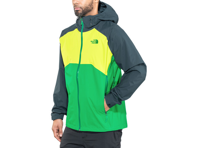 The North Face Stratos Jas Heren, primary green/lime green/kodiac blue